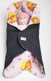 Конверт для новорожденного Ramili Denim Style Pink
