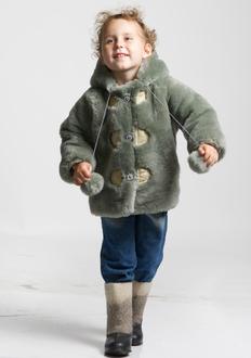 Детская шубка Ramili First (серый)