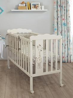 Кровать 120x60 Micuna Baby Giraffe Ivory Матрас полиуретановый СН-620(Ivory)