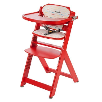 Стульчик для кормления Safety 1st Timba with Tray and Cushion + мягкий вкладыш цвет Red Lines