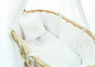 Набор для колыбели Funnababy Berlin Premium Baby White матрасик(Белый)