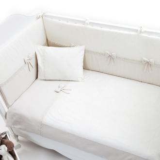 Постельное бельё Funnababy Premium Baby Cream 120x60 5 предметов(Крем)