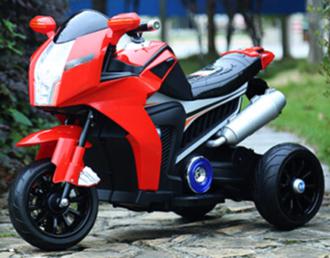 Мотоцикл на аккумуляторе (6V*4AH), цвет: красный, в/к 87*33*49 см