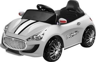 Машина на аккумуляторе (6V4.5AH*1) на пульте управления, цвет белый в/к 100*53*30 см