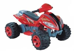 Квадроцикл на аккумуляторе (1х6V, 7Ah), в/к 80*58*52 см цв.красный