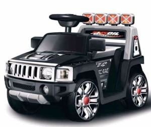 Машина на аккумуляторе (1х6V, 4.5Ah), на пульте управления, в/к 76*43*45 см цв.черный