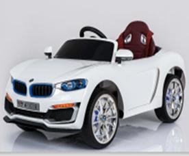 Машинка на аккум. р/у (12V7AH*1,2 мотора*30W) 3 скорости 3-5 км/ч. сид.кожезам. амортизаторы, откр.двери,электр.тормоз,размер 122*70*55 см. цвет: син