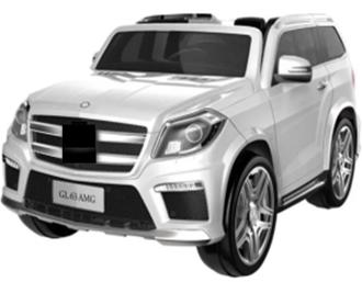 Машинка на аккум. р/у (12V7AH*1,2 мотора*30W)3 скорости 3-5 км/ч. амортизаторы,откр.двери, ремень, электр.тормоз, р. 122*77*57 см. цвет: белый