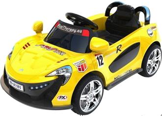 Машина на аккумуляторе (6V4AH*2*15W) на пульте управления, в/к 102.5*53*29. Размер игрушки 101*53*43.5 цв.желтый
