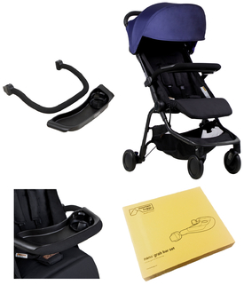 Комплект бампер и столик Mountain Buggy Nano Grab Bar Set Black Черный