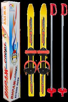 Детские лыжи Вираж спорт, в комплеткет с палками