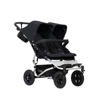 Детская прогулочная коляска для двойни и погодков Mountain Buggy Duet 3.0 Black Черная с черным