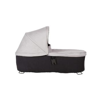 Блок для новорожденных Mountain Buggy Duet Carrycot Plus 3.0 Silver Черный с серым
