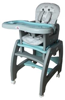 Стульчик для кормления трансформер ForKiddy Active Comfort Grey-Blue 3 в 1