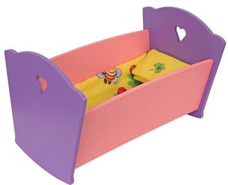 Набор кукольной мебели КРАСНОКАМСКАЯ ИГРУШКА КМ-02 Кроватка с постельным бельем