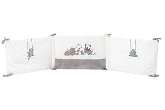 Бортик для кровати универсальный Nattou Loulou, Lea Hippolyte Панда, Леопард, Бегемот 963480