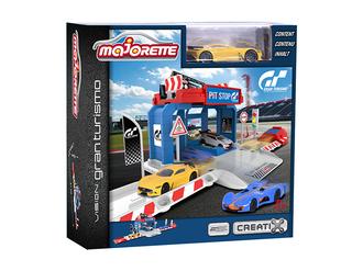 Игровой набор MAJORETTE 2050002 Парковка Creatix Gran Turismo, 1 машинка
