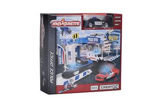 Игровой набор MAJORETTE 2050001 Парковка Creatix Полиция, 1 машинка