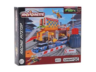 Игровой набор MAJORETTE 2050011 Питстоп Creatix, 1 машинка