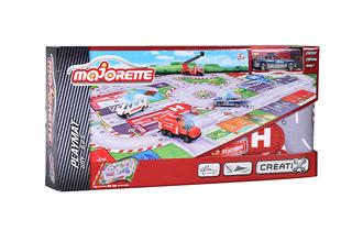 Игровой набор MAJORETTE 2056411 Коврик Creatix SOS, 1 машинка