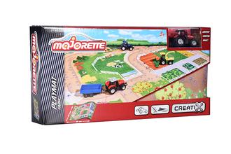 Игровой набор MAJORETTE 2056413 Коврик Creatix Farm, 1 машинка