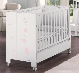 Кровать 120х60 Micuna Juliette Relax(White/Pink)