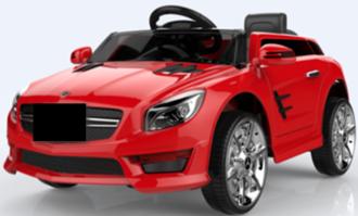 Машинка на аккумуляторе, 6V4,5AH*2, 2 мотора, р/у 2,4GHz, свет/звук, MP3, USB, открыв.двери, разм. 88*58*39, цвет: красный