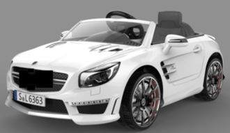 Машинка на аккумуляторе, 6V7AH, 1 мотор, р/у 2,4GHz, колеса EVA, свет/звук, MP3, USB, открыв.двери, разм. 117.7*69.5*45.3, цвет: белый