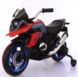 Мотоцикл на аккумуляторе, цв. красный 108*57*70, аккум. 6V7Ah, мотор 2*25W, MP3, свет/звук эффекты