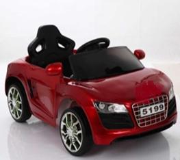 Машина на аккумуляторе, цв. красный, разм. игр. 84*41*47cm, аккум. 6V4,5Ah, мотор 1*25W, MP3, 2,4GHz RC, свет/звук эффекты