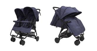 Прогулочная коляска для двойни Cozy Smart Navy Melange