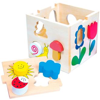 Деревянный куб сортер 84165