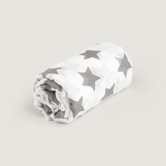Пеленка муслиновая gray / big stars