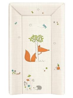Пеленальный матрац на кровать Ceba Baby 80 см на жёстком основании(W-211-059-170 Fox Ecru)