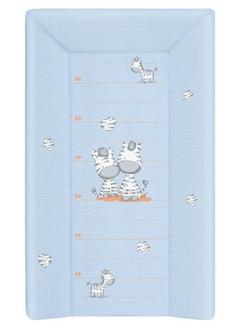 Пеленальный матрац на кровать Ceba Baby 80 см на жёстком основании(W-211-002-160 Zebra Blue)