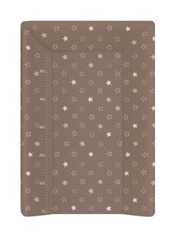 Пеленальный матрац на кровать Ceba Baby 70 см на жёстком основании(W-201-066-230 Stars Brown)