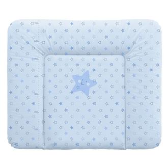 Пеленальный матрац 70x85 см Ceba Baby мягкий на комод(W-134-066-160 Stars Blue)