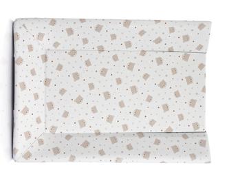 Пеленальный матрасик Micuna PL-1349 Plus 2 для тумбы(Beige Bears and Hearts)