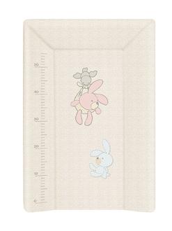 Пеленальный матрац 70 см Ceba Baby мягкий с изголовьем(W-103-068-260 Bunnies Grey)