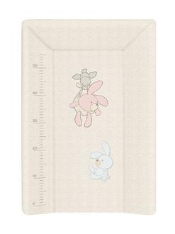 Пеленальный матрац на кровать Ceba Baby 70 см на жёстком основании(W-201-068-260 Bunnies Grey)