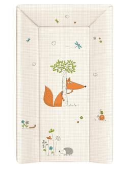 Пеленальный матрац 70 см Ceba Baby мягкий с изголовьем(W-103-059-170 Fox Ecru)