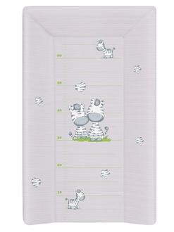 Пеленальный матрац 70 см Ceba Baby мягкий с изголовьем(W-103-002-260 Zebra Grey)