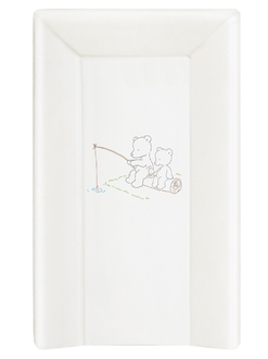 Пеленальный матрац на кровать Ceba Baby 70 см на жёстком основании(W-201-004-100 Papa Bear White)