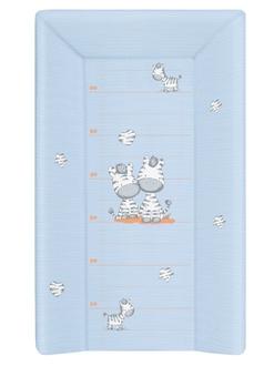 Пеленальный матрац на кровать Ceba Baby 70 см на жёстком основании(W-201-002-160 Zebra Blue)