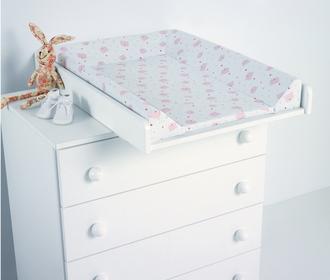 Пеленальная доска с матрасиком Micuna CP-1199 PLUS (цвет – белый) (White Цвет матрасика: Pink Bears