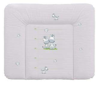 Пеленальный матрац 70x85 см Ceba Baby мягкий на комод(W-134-002-260 Zebra Grey)