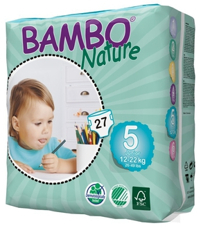 Подгузники Bambo Nature Junior 12-22 кг (27 шт)