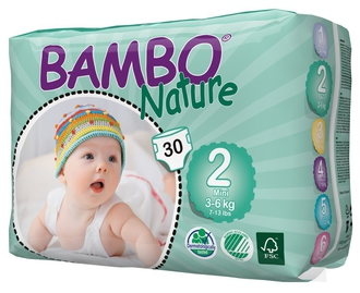 Подгузники Bambo Nature Mini 3-6 кг (30 шт)