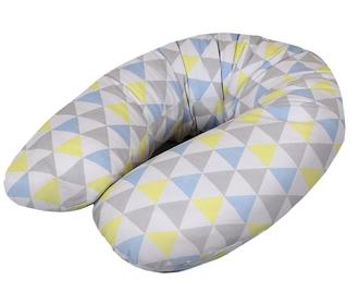 Подушка для кормления Ceba Baby Multi трикотажная(W-741-067-019 Triangle Blue/Yellow)