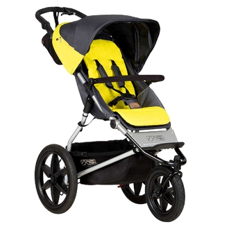 Детская прогулочная коляска Mountain Buggy Terrain Solus Серо-желтая